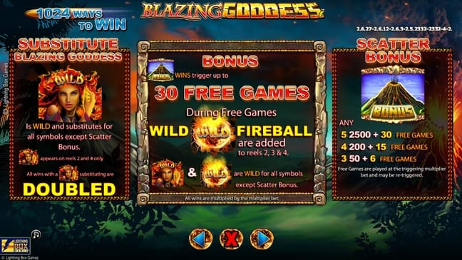 Wild, Scatter и правила фриспинов в Blazing Goddess
