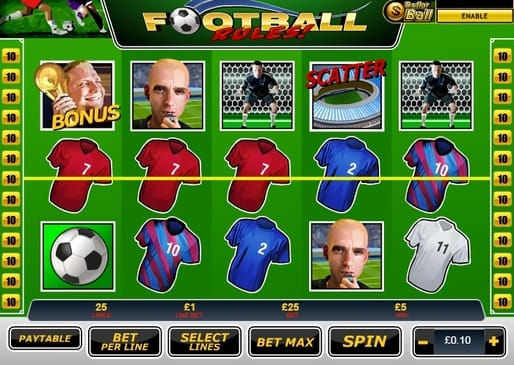 Выигрышная комбинация в Football Rules онлайн