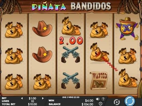 Выигрышная комбинация в Pinata Bandidos