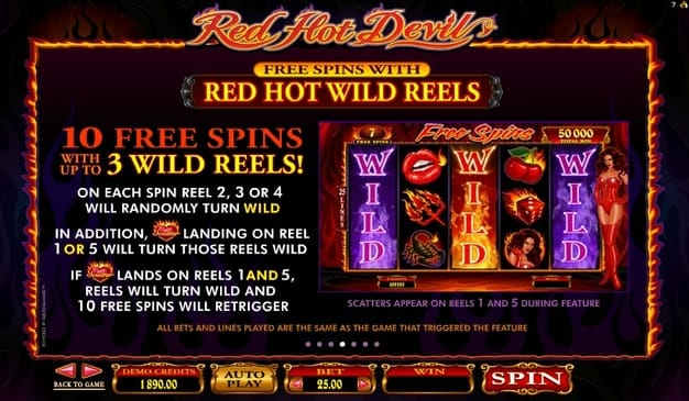 Правила фриспинов в Red Hot Devil онлайн