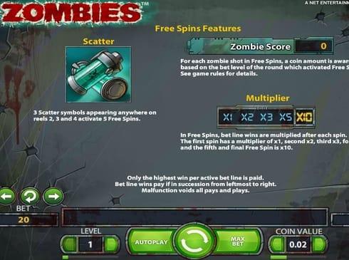 Фриспины в Zombies онлайн
